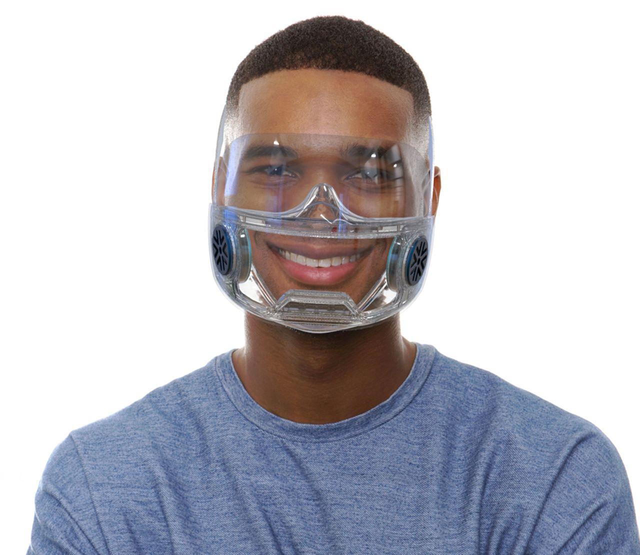 PRECIMASK - 1er masque transparent à Filtration Céramique Durable